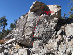 Rock Climbing Photo: Trench Run Topo