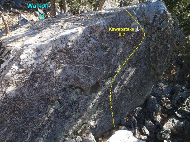 Rock Climbing Photo: Kawabatake Topo