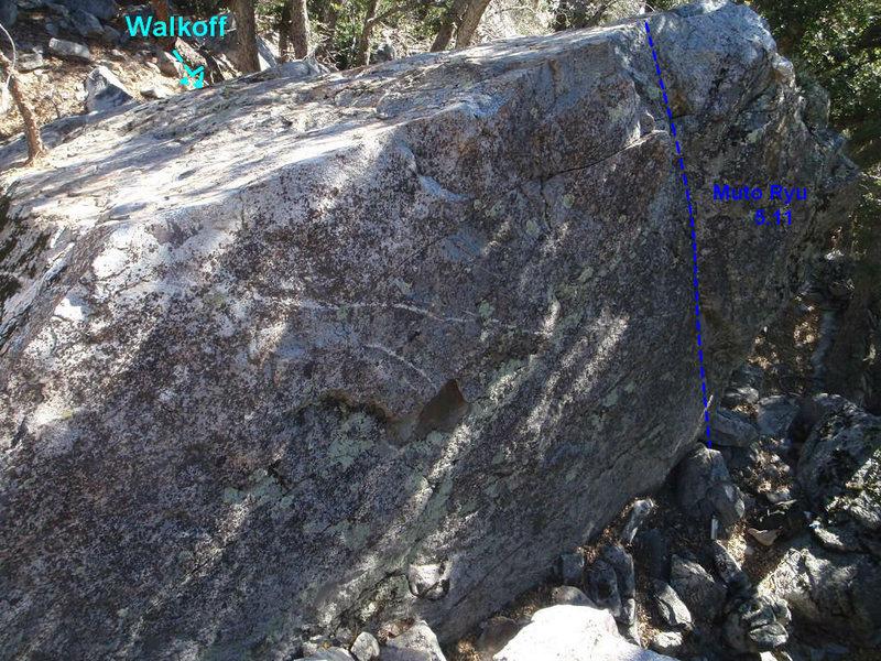 Rock Climbing Photo: Muto Ryu topo