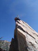 Rock Climbing Photo: Taco on The Fett Arete