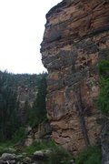 Rock Climbing Photo: Scott after resting mid wall