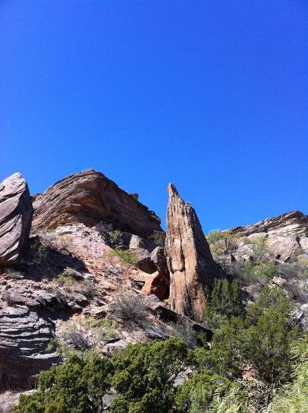 Rock Climbing Photo: Hermit's Spire