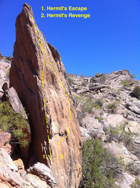 Rock Climbing Photo: Hermit's Spire arete beta photo