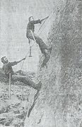 Rock Climbing Photo: Aiding up during the first ascent of the lighthous...
