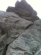 Rock Climbing Photo: Heres a close up view of the route and the roof yo...