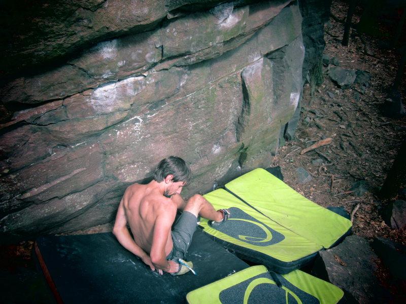 Rock Climbing Photo: Jason at the start