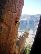 Rock Climbing Photo: Polishing off the redoint crux of Grand Ol' Opry. ...
