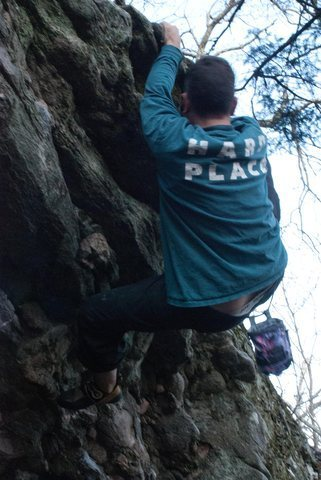 Rock Climbing Photo: Matt on Locksmith