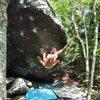 Steve Lovelace on the 3rd? ascent of Manchild