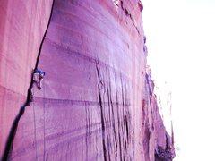 Rock Climbing Photo: Lightened up Frosty's Photo of the Gouli Crack