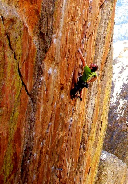 Rock Climbing Photo: At the good rest below the Africa plate.   Photo b...