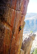 Rock Climbing Photo: At the lower tip of the Africa plate.  Photo by Ke...