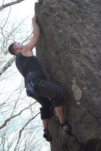 Rock Climbing Photo: Matt on Napalm
