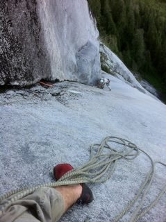 Rock Climbing Photo: high up on Star Wars