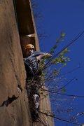"Rock Climbing Photo: Adjusting his ""tool belt"""