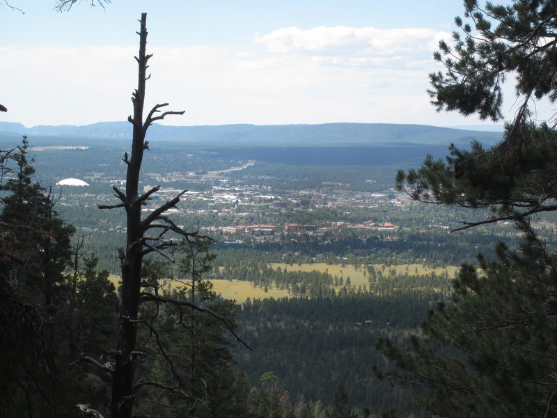 Rock Climbing Photo: The view of Flagstaff from Oaklands. That's Buffal...