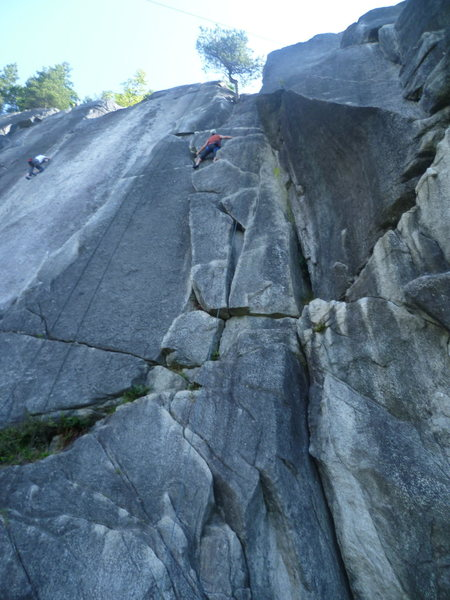 Rock Climbing Photo: Corn Flakes to the right and Layback Flakes to the...