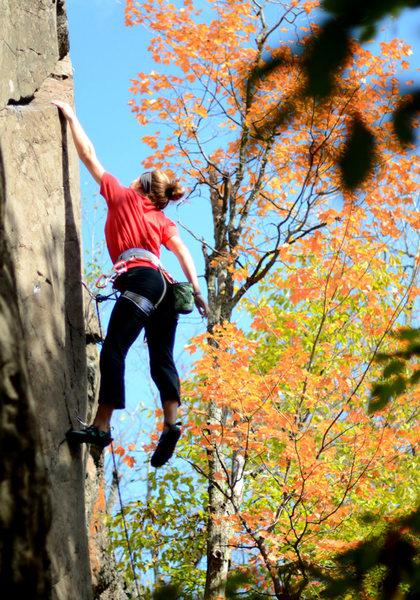 Rock Climbing Photo: hit it