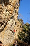Rock Climbing Photo: High up on Bill