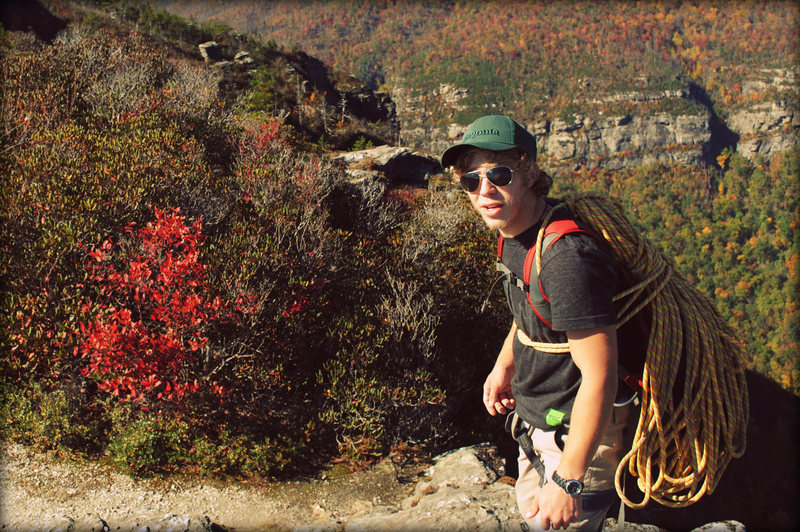 Hiking to Amphitheater at Linville Gorge
