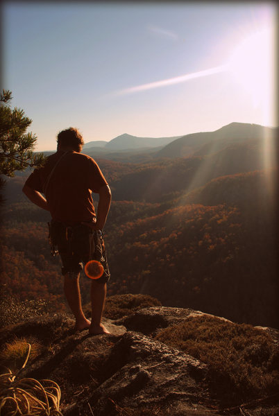 Rock Climbing Photo: On the summit of Laurel Knob