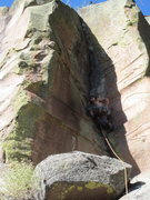 Rock Climbing Photo: John Crawley takes in the view before starting out...