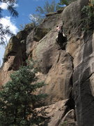 Rock Climbing Photo: Wade Forest follows Ride the Snake - 10d