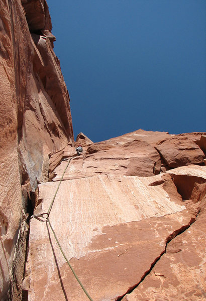 Rock Climbing Photo: Heading up the third pitch of the Kor-Ingalls Rout...