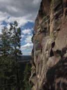 Rock Climbing Photo: Helen on the second step of Stepchild.