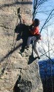 Rock Climbing Photo: Jimmy McArthur on Golden Blend January 1989.