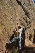 Rock Climbing Photo: Pat having at it on the classic Hagan's Wall.