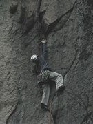 Rock Climbing Photo: Pat working his way up to the arch - third pitch o...
