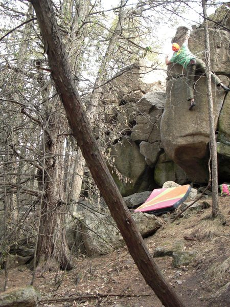 Pulling the crux.