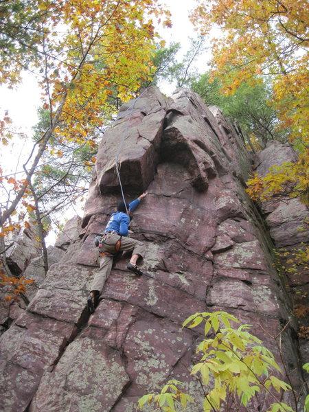 Rock Climbing Photo: In the heinous pinky lock.