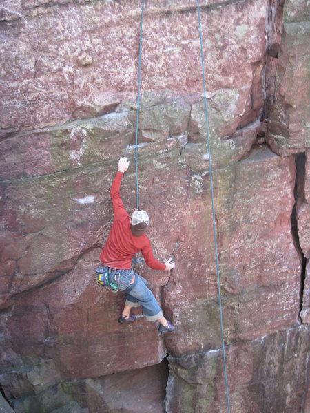 Rock Climbing Photo: First crux, Remo.