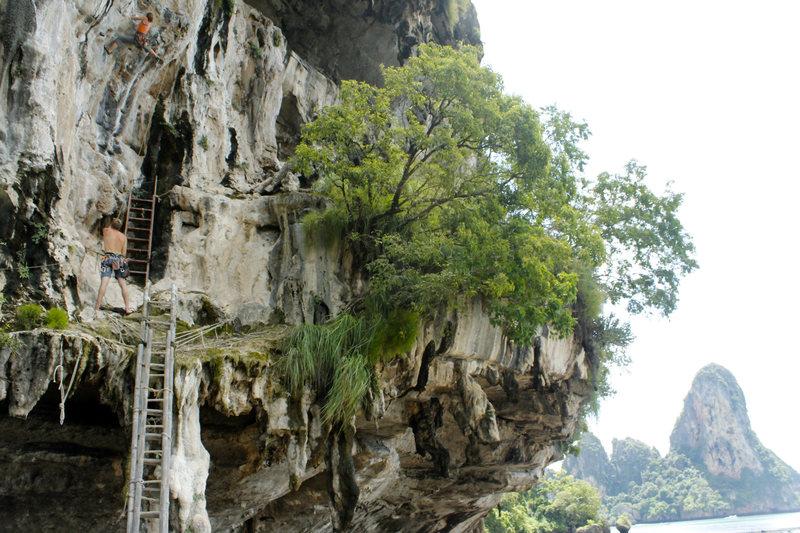Rock Climbing Photo: Kate on Hin Rong Hai