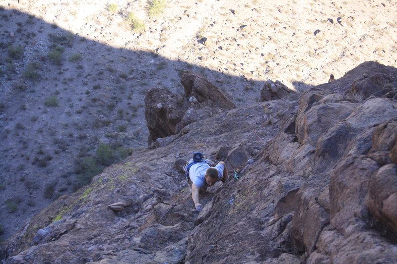 Rock Climbing Photo: Chris on P4