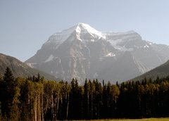 Rock Climbing Photo: Mt Robson from the meadow 8-89