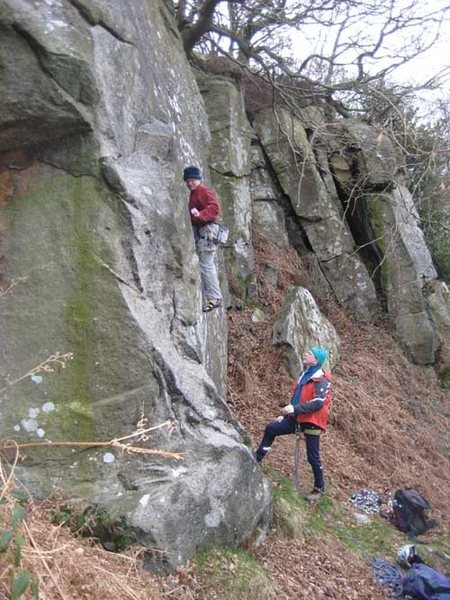 Rock Climbing Photo: One of the short quarried faces at Rivelin Edge (p...