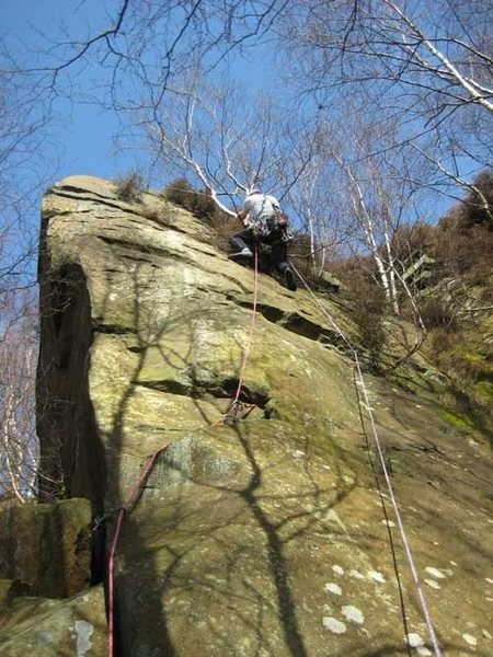 The pros (decent bits of clean rock) and cons (lots of vegetation) of climbing at Rivelin Quarry.