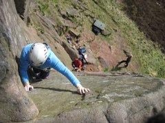 Rock Climbing Photo: Nearly at the finishing holds (photo by Neil Hyde)