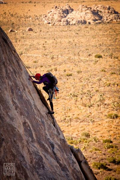 Rock Climbing Photo: Right On - JTree - Oct 2011