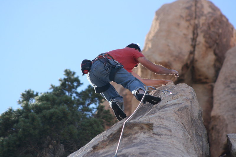 Rock Climbing Photo: Nathan Fitzhugh just passing the last bolt. 10-29-...