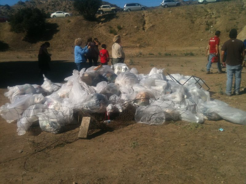 Rock Climbing Photo: Trash from the Adopt-A-Crag at Stoney on 10/29/11