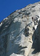Rock Climbing Photo: Cruising the up the flakes on P2 of The Vampire.