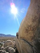Rock Climbing Photo: Past the business on Bearded Cabbage.  Cool route!