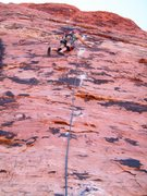 Rock Climbing Photo: Lynda G. leading P2