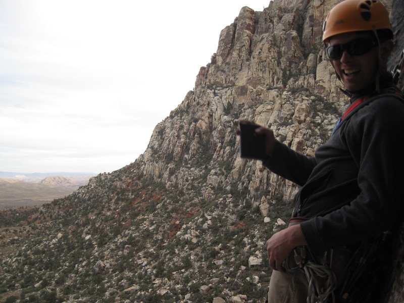 Rock Climbing Photo: Nearly down and getting more golly each rappel!