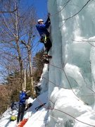 Rock Climbing Photo: Clipping the 1st screw. Mont Blancs in action...