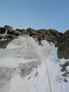 "Rock Climbing Photo: Carl Pluim just starting up pitch 1 on ""Concr..."